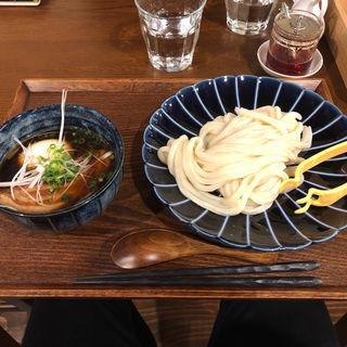 豚角煮と玉子のつけ麺(つけウドン専門ト酒ト料理 花雷 烏丸店)