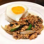 鶏肉のガパオ炒めご飯