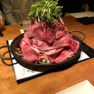 ■大阪名物!!元祖黒毛和牛鉄板鍋(鉄板鍋きのした  恵比寿はなれ)