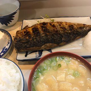 焼き鯖定食(真)