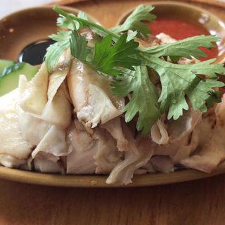 海南鶏飯(蒸)お肉増量(シンガポール海南鶏飯 水道橋店 (ハイナンチーファン))