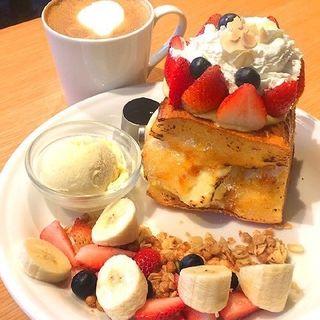 チーズケーキクリームフレンチトースト(J.S. PANCAKE CAFE 渋谷店)
