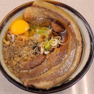 厚肉そば+生たまご(豊しま 春日店 (是はうまい))