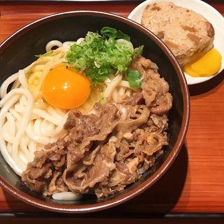肉釜玉うどんうどん(二◯加屋長介 大手町店)