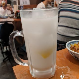 カルピス生レモンサワー(もつ千 水道橋店)