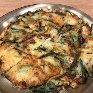 海鮮チヂミ(金のスプーン)