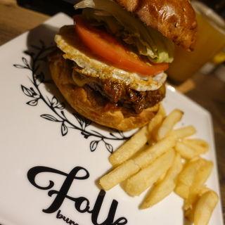 ゴーダミソミートバーガー(folk burgers&beers)
