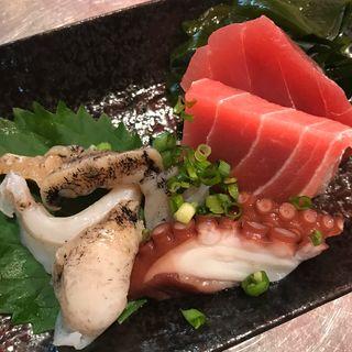 刺身3点盛り+お酒セット(魚草)