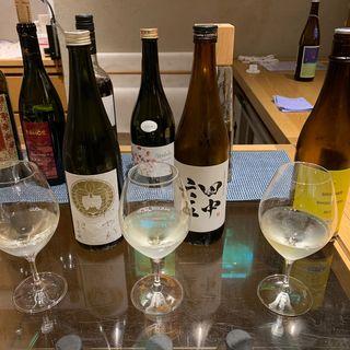 日本酒飲み比べ(imadeya銀座)