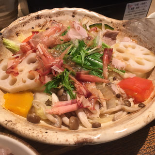 野菜と豚の蒸し鍋定食(大戸屋 ポーラ名古屋ビル店 )