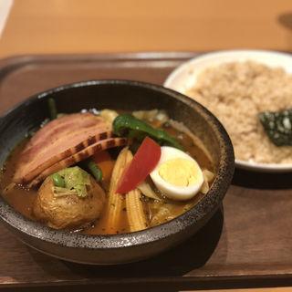炙りベーコンとキャベツのスープカレー(カレー食堂 心 ヨドバシAkiba店 )