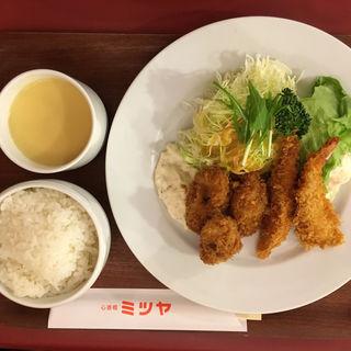 カキフライ&エビフライセット (心斎橋 ミツヤ 心斎橋本店 )