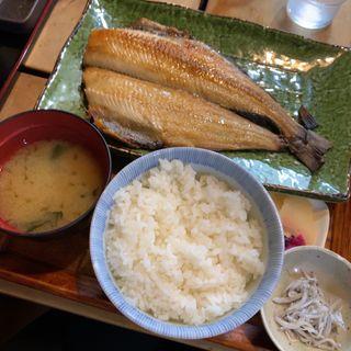 ◆縞ほっけの干物定食1400円(囲炉茶屋 (irorichaya))
