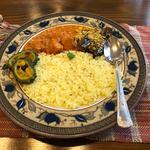 マイルドチキンカレーと茄子のヨーグルトカレー