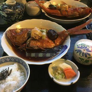 金目鯛の煮付け定食(割烹潮の音)