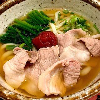 梅豚うどん(釜あげうどん 澤乃井 (かまあげうどん さわのい))
