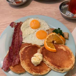 アメリカの朝ご飯+ブラックティー(world breakfast allday harajuku)
