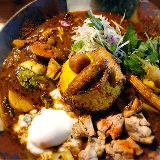 鶏ざんまい(スープカレー なっぱ)