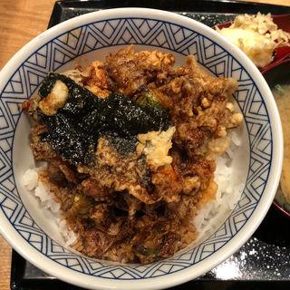 大かき揚げ天丼+みそ汁と玉子天麩羅セット(一心 金子 )