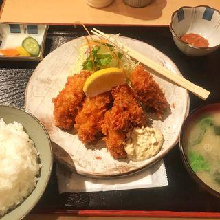 牡蠣フライ定食(深川いこい亭)