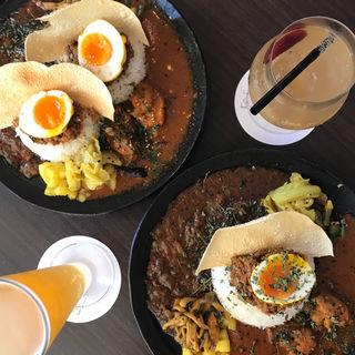 3種がけカレー定食(アンドビール)