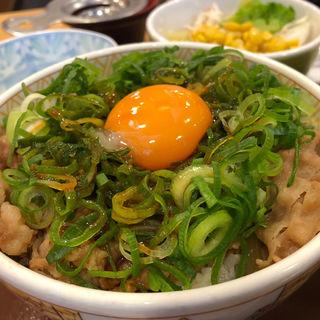 ねぎ玉牛丼(すき家 博多駅前4丁目店)