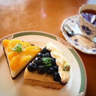 ケーキセット(ケーキ2個+コーヒーor紅茶付き)(田村町キムラヤ )