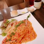 ワタリガニのトマトソースパスタ