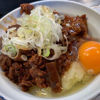 ホルモン丼+生卵(きつねや )