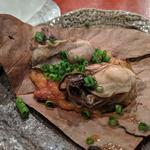 牡蠣の朴葉焼き