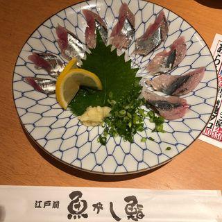 さんま刺し(魚がし鮨 田町本店 (うおがしすし))