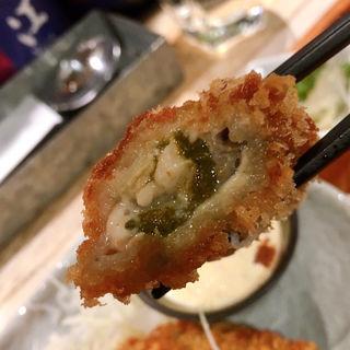 広島産大きなカキフライ定食(オイスターバー ワーフ (Oyster Bar wharf))