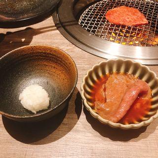 元祖イチボの一枚焼き すき焼き風 日本一のこだわり卵(にくがとう)