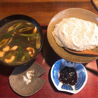 蕎麦がきと鴨汁(そばがき屋 ぐーちょきぱー )