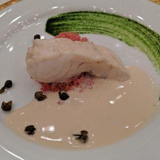 真鯛の白ワイン蒸し シェリービネガー香るブールブランソース(帝国ホテル 大阪 )