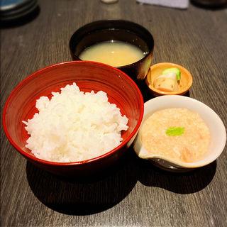 明太とろろご飯(汁付)(酒菜竹のした  )
