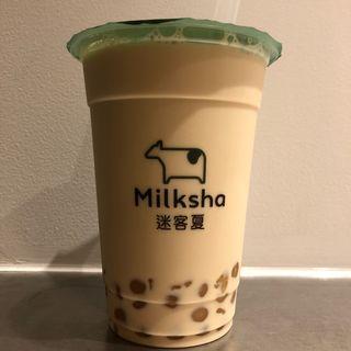 プレミアムタピオカ黒糖ミルク(Milksha  迷客夏)