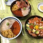 三色丼(きくよ食堂本店)