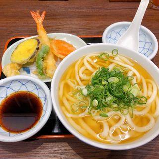 天ぷら&うどんセット(因幡うどん 博多駅店)