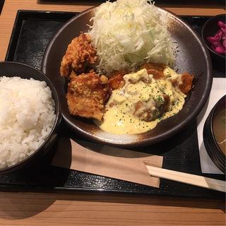 唐揚げ&チキン南蛮定食(鶏千 新高円寺店)