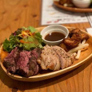 肉盛りステーキプレート 4種 250g(パテ屋 )