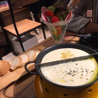 新鮮産直野菜のラクレットチーズフォンデュ(渋谷ガーデンファーム )