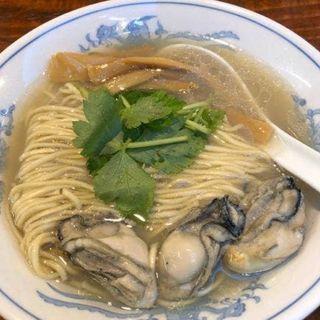 牡蠣そば(初代青樹)
