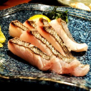 サワラの炙り刺し(月○海 香椎店 (つきまるうみ))