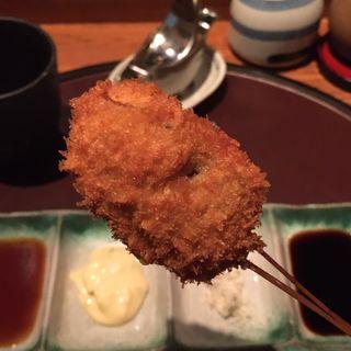 椎茸の肉詰め 中華風(串揚げ)