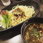 黒胡麻担担つけ麺(香氣 四川麺条 祖師ヶ谷大蔵店)
