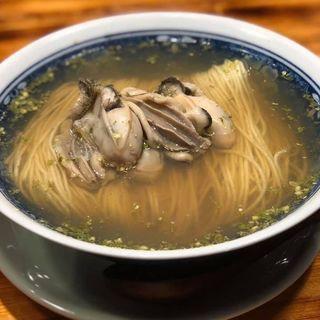 牡蠣山椒の塩そば(柴崎亭 )