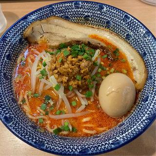 一本チャーシュー味玉付担担麺(炎助)