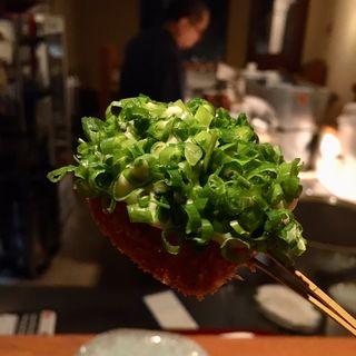 鰤の大葉巻き タルタルソースねぎのせ(串揚げ)(串揚げ ふくみみ)