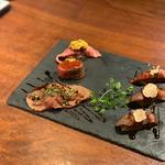 肉寿司3巻盛り(しゃぶしゃぶKINTAN 表参道店)